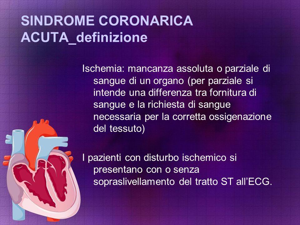 SINDROME CORONARICA ACUTA_definizione