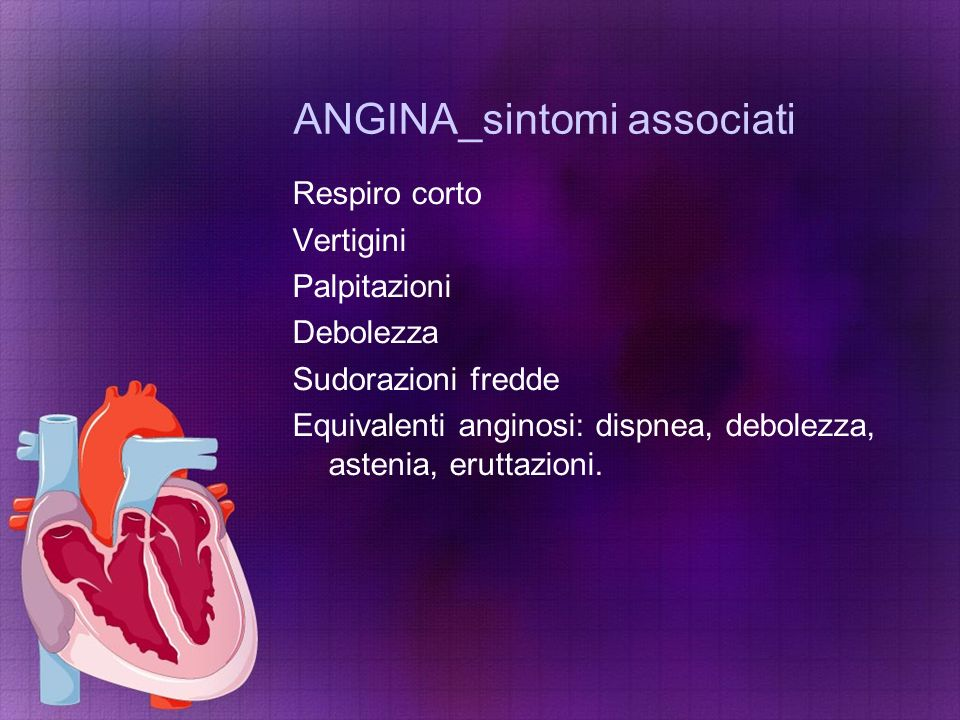 ANGINA_sintomi associati