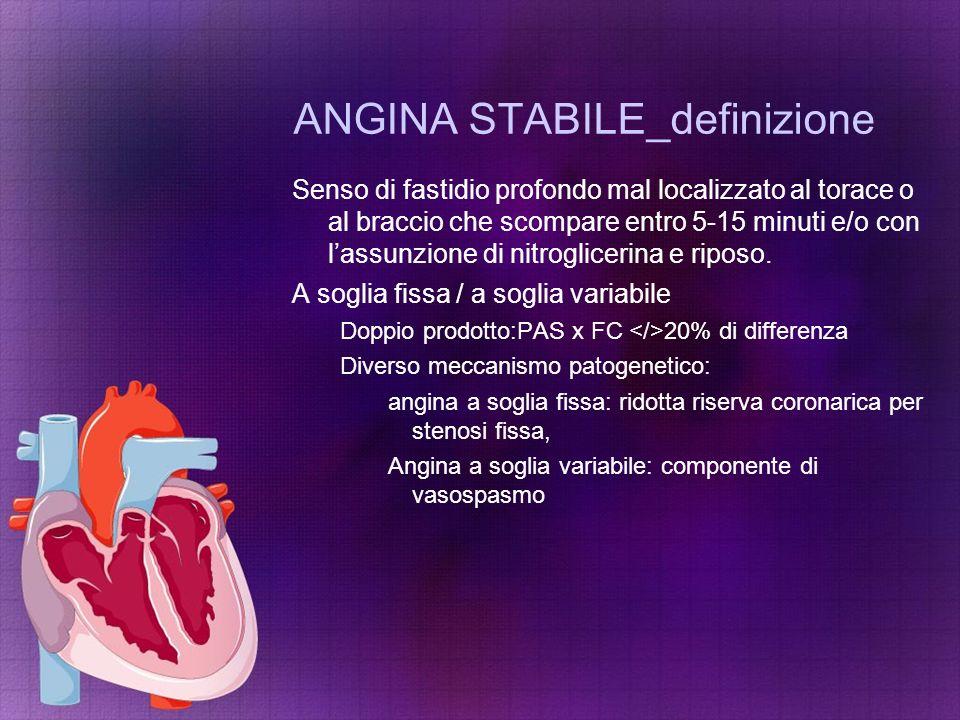 ANGINA STABILE_definizione