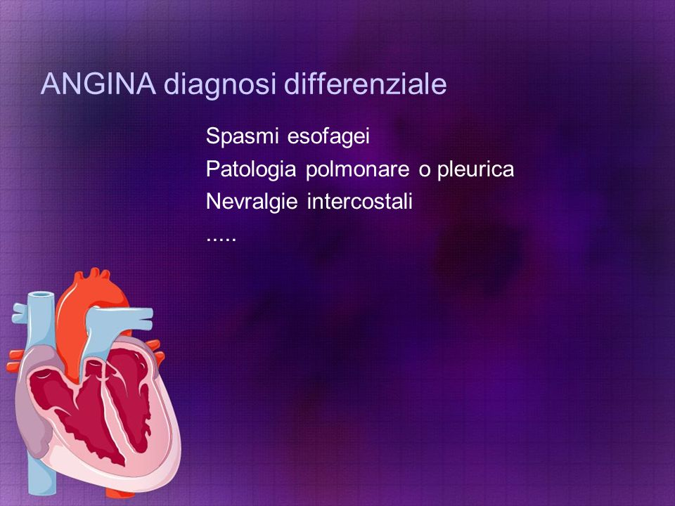ANGINA diagnosi differenziale