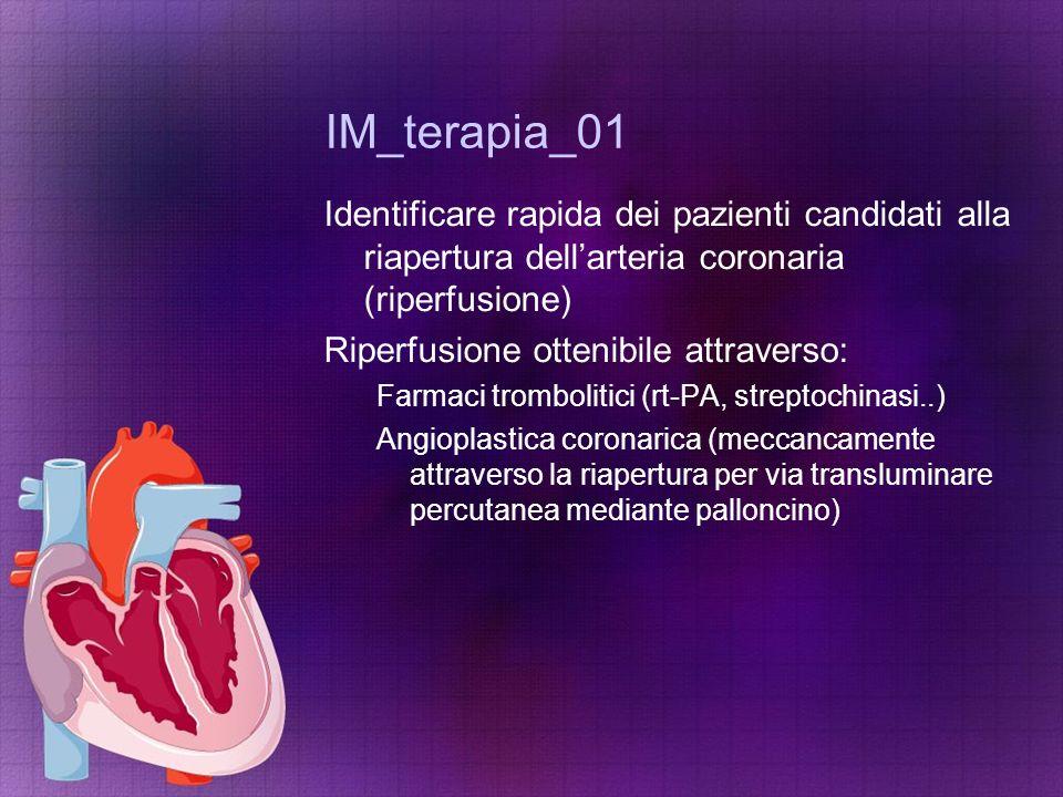 IM_terapia_01 Identificare rapida dei pazienti candidati alla riapertura dell'arteria coronaria (riperfusione)