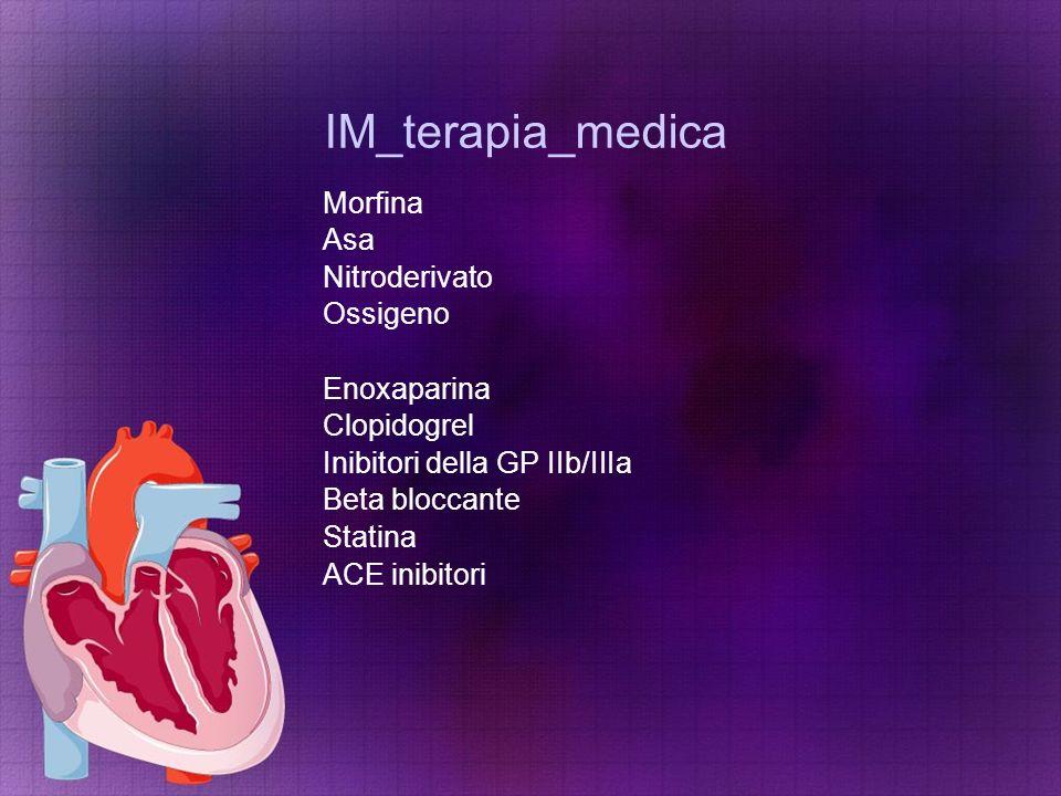 IM_terapia_medica Morfina Asa Nitroderivato Ossigeno Enoxaparina