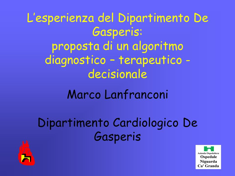 Marco Lanfranconi Dipartimento Cardiologico De Gasperis