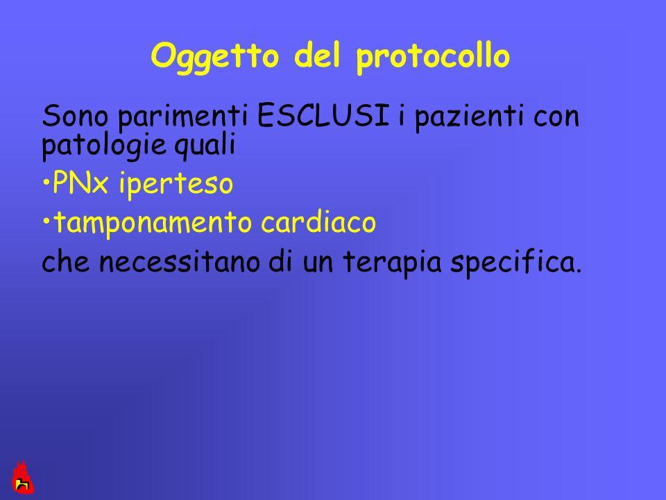 Oggetto del protocollo
