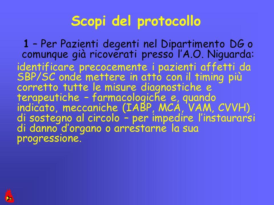 Scopi del protocollo 1 – Per Pazienti degenti nel Dipartimento DG o comunque già ricoverati presso l'A.O. Niguarda: