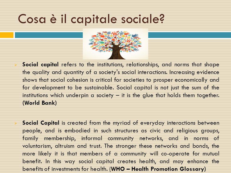 Cosa è il capitale sociale
