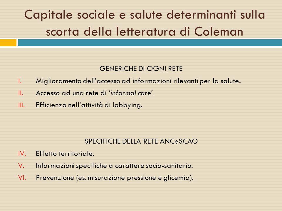 SPECIFICHE DELLA RETE ANCeSCAO