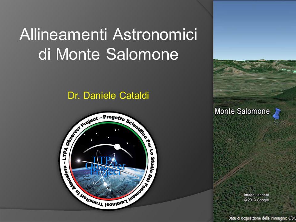 Allineamenti Astronomici di Monte Salomone