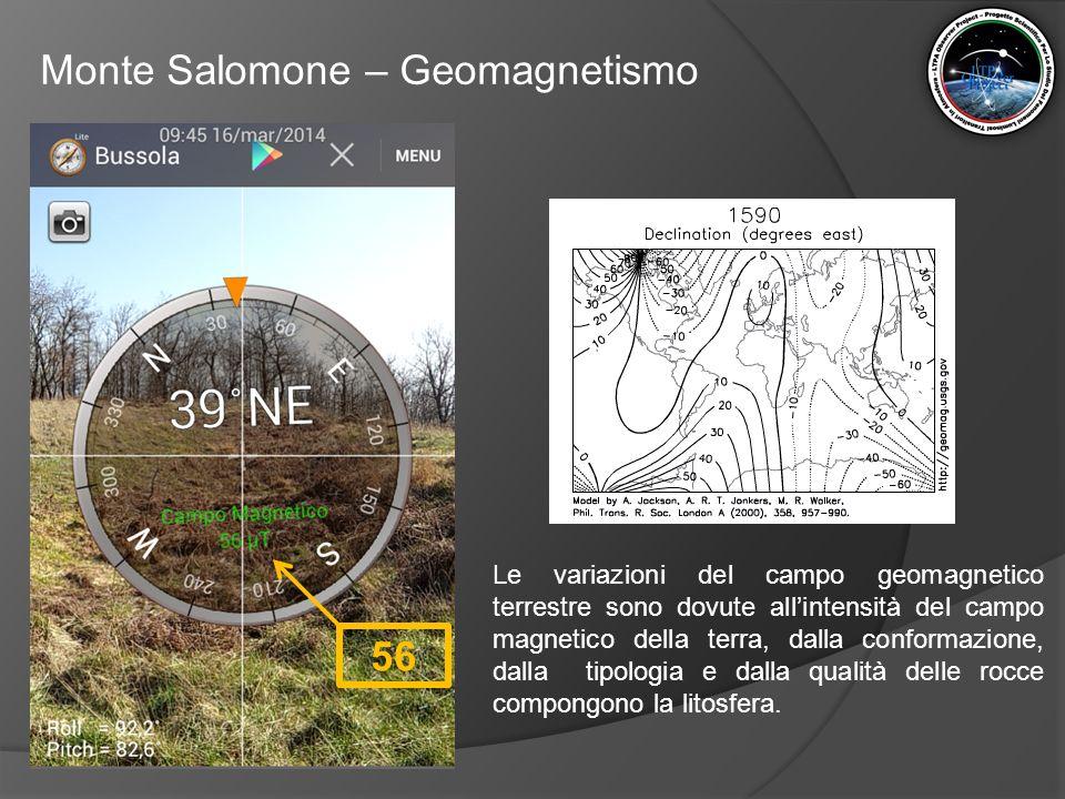 Monte Salomone – Geomagnetismo