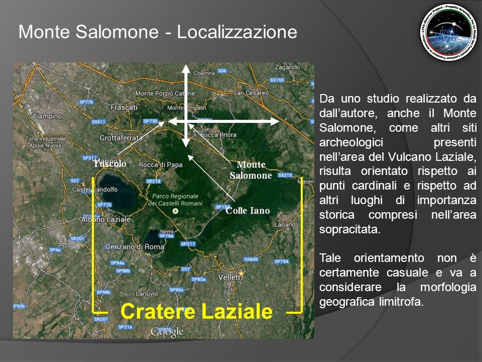 Cratere Laziale Monte Salomone - Localizzazione