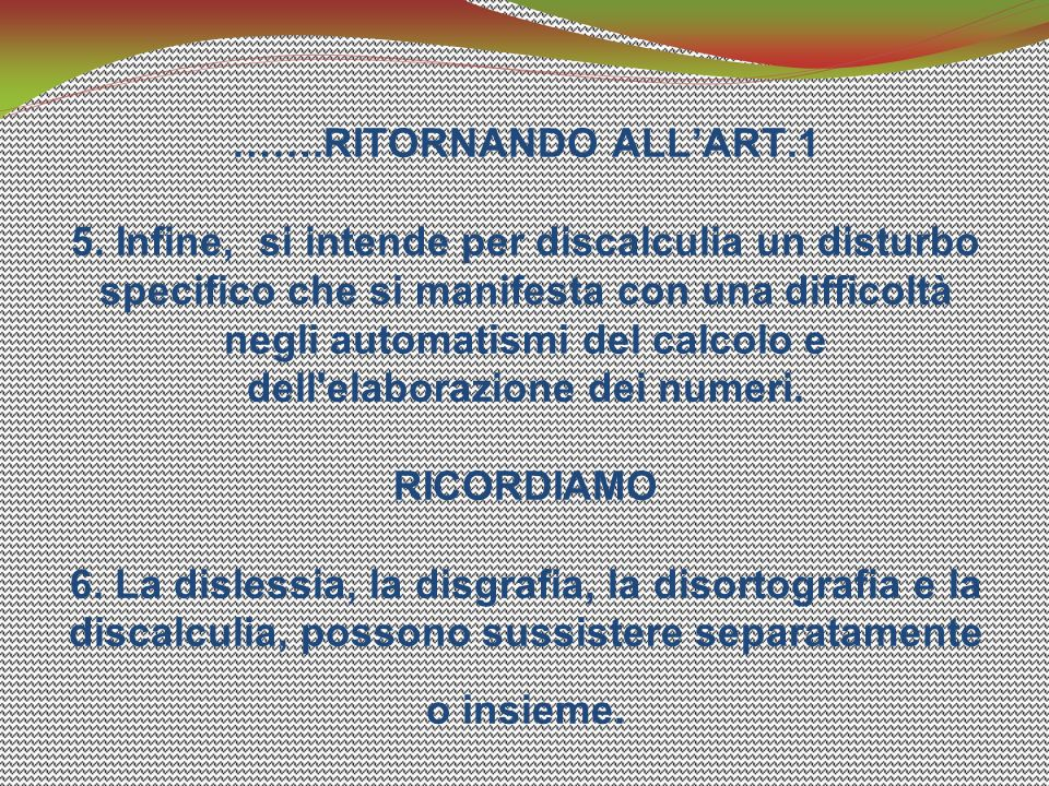 …….RITORNANDO ALL'ART.1 5.