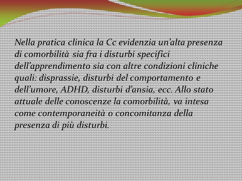 Nella pratica clinica la Cc evidenzia un'alta presenza