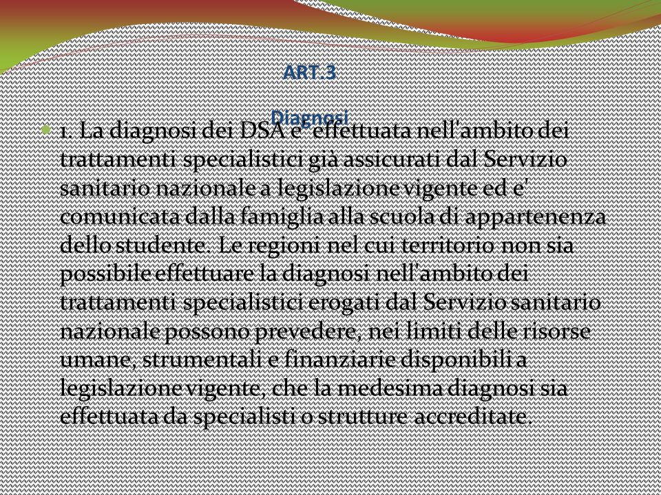 ART.3 Diagnosi