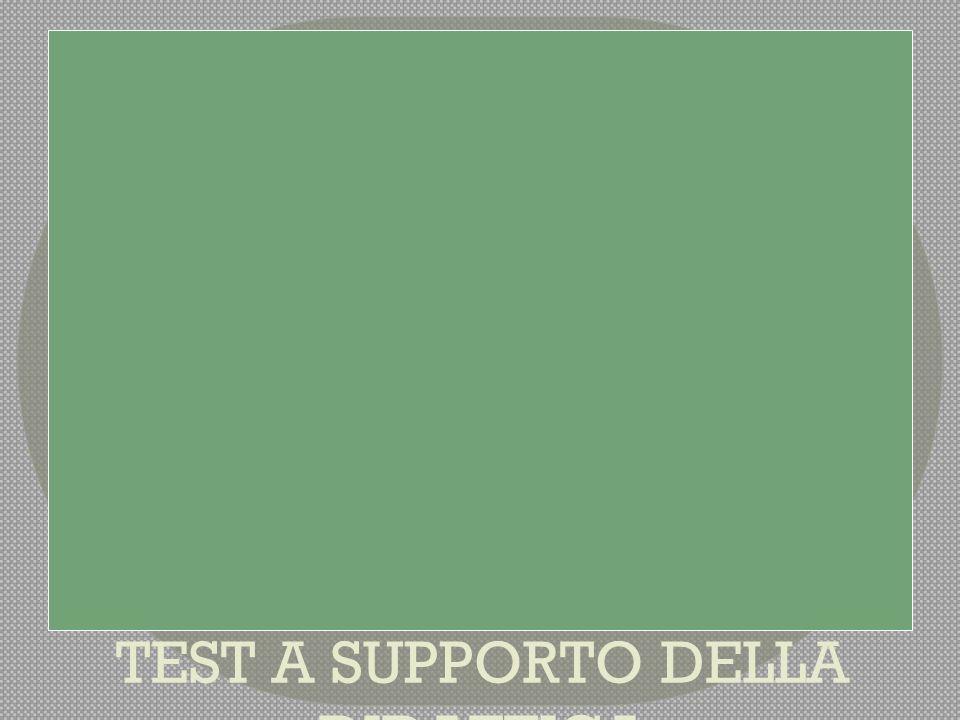 TEST A SUPPORTO DELLA DIDATTICA