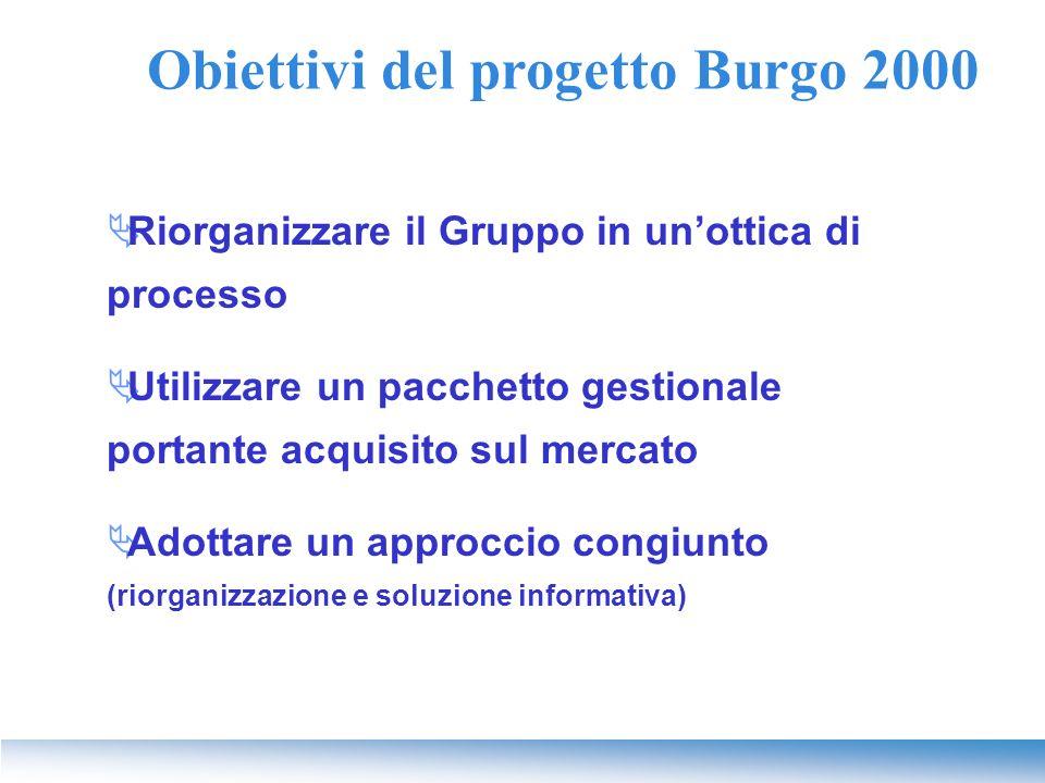 Obiettivi del progetto Burgo 2000