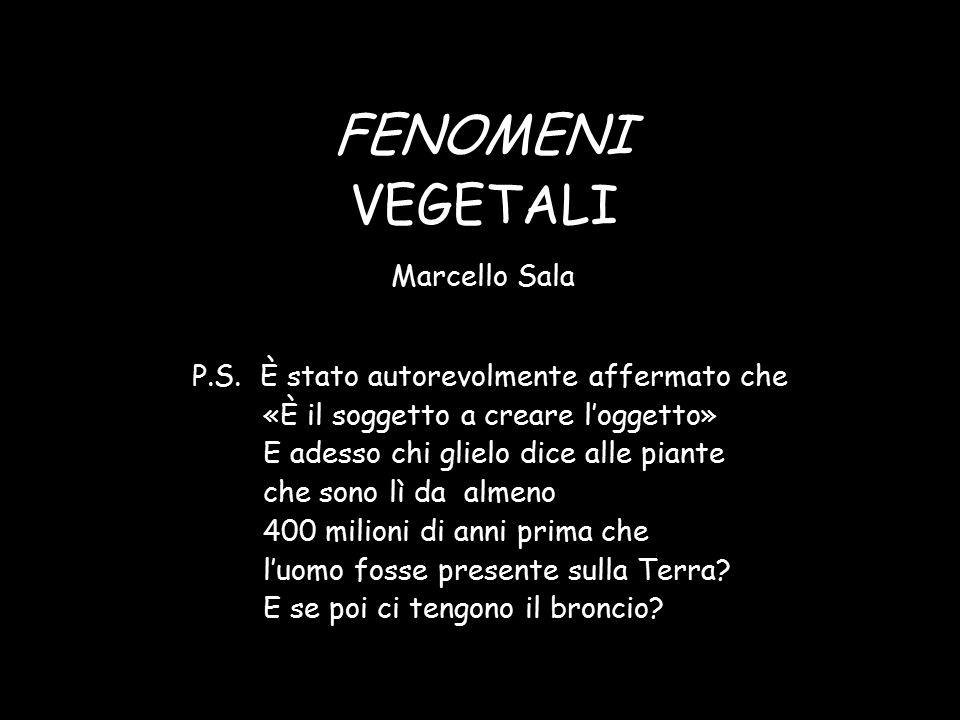 FENOMENI VEGETALI Marcello Sala