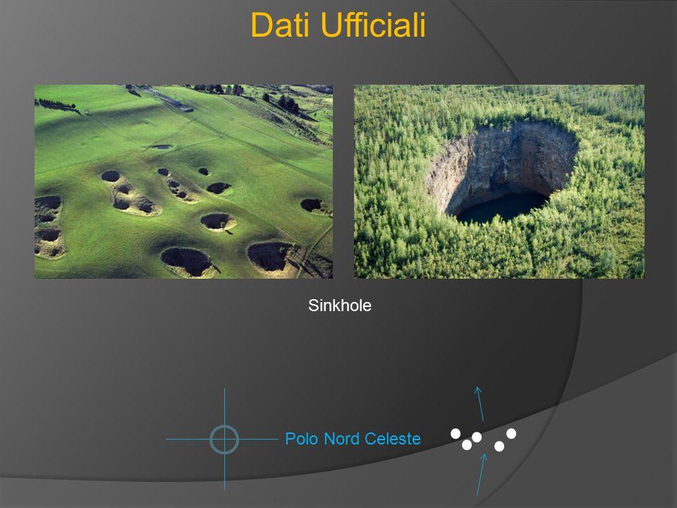 Dati Ufficiali Sinkhole Polo Nord Celeste