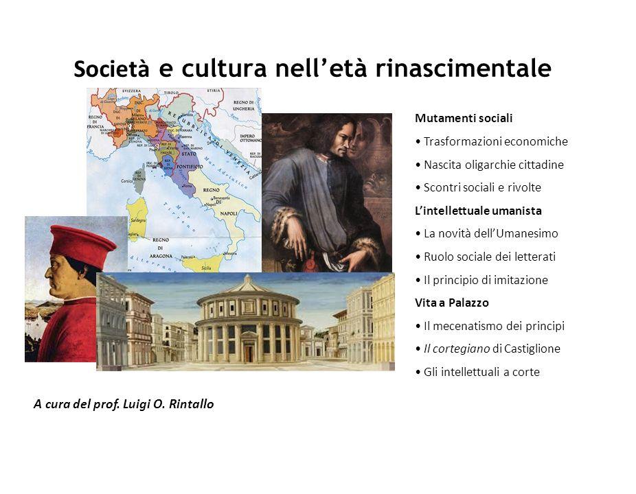 Società e cultura nell'età rinascimentale