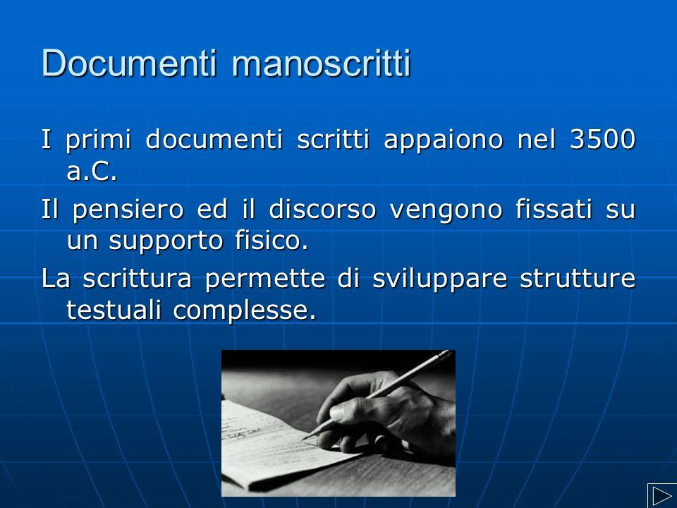 Documenti manoscritti