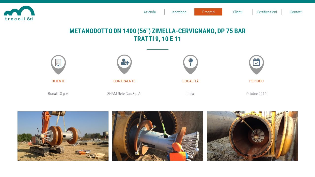 METANODOTTO DN 1400 (56 ) ZIMELLA-CERVIGNANO, DP 75 BAR