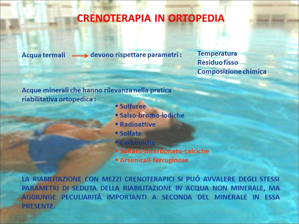 Crenoterapia in ortopedia