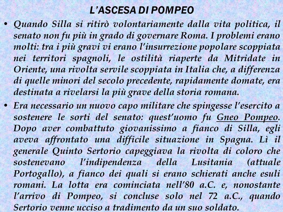 L'ASCESA DI POMPEO