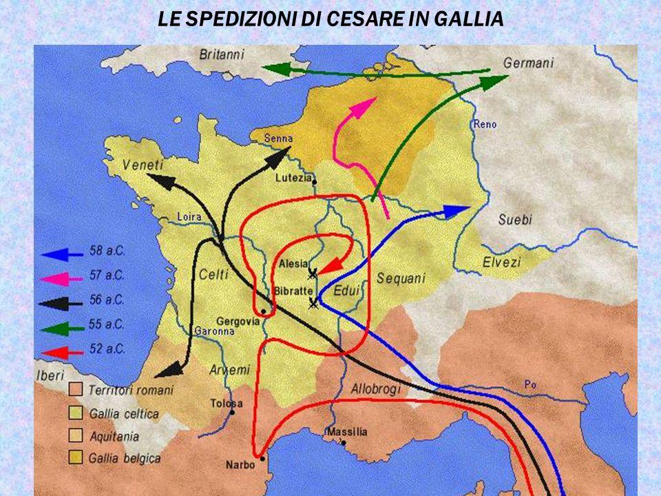 LE SPEDIZIONI DI CESARE IN GALLIA