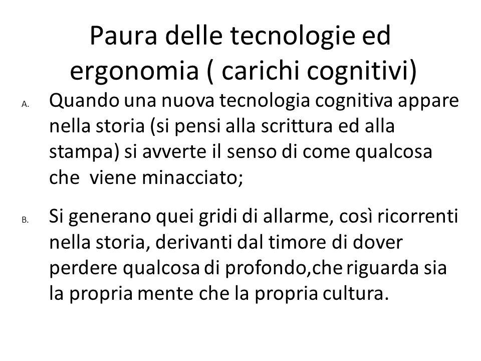 Paura delle tecnologie ed ergonomia ( carichi cognitivi)