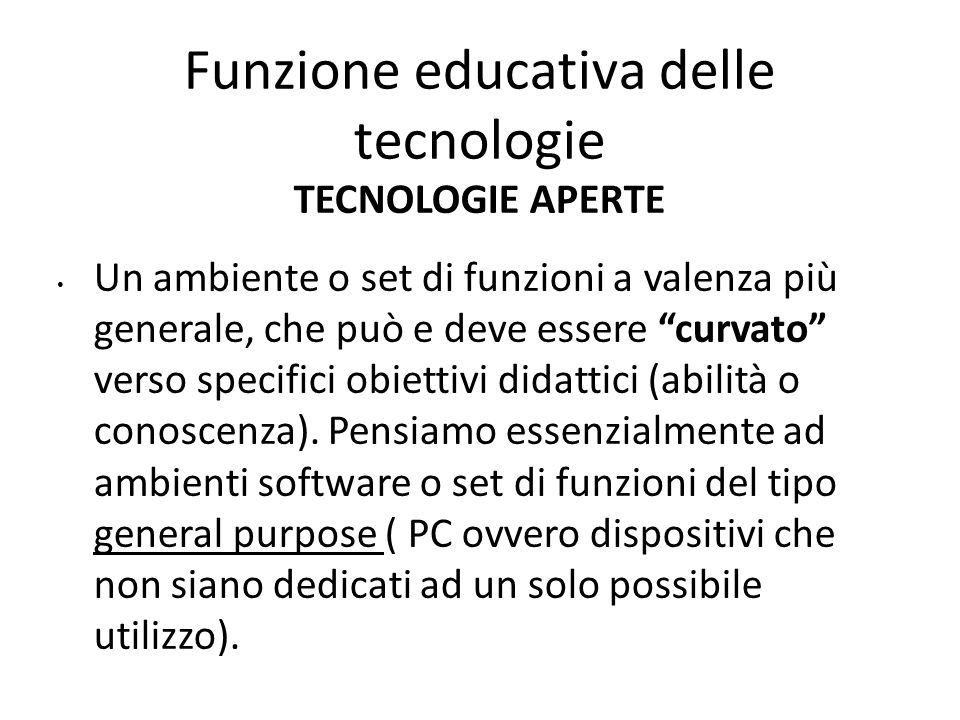 Funzione educativa delle tecnologie