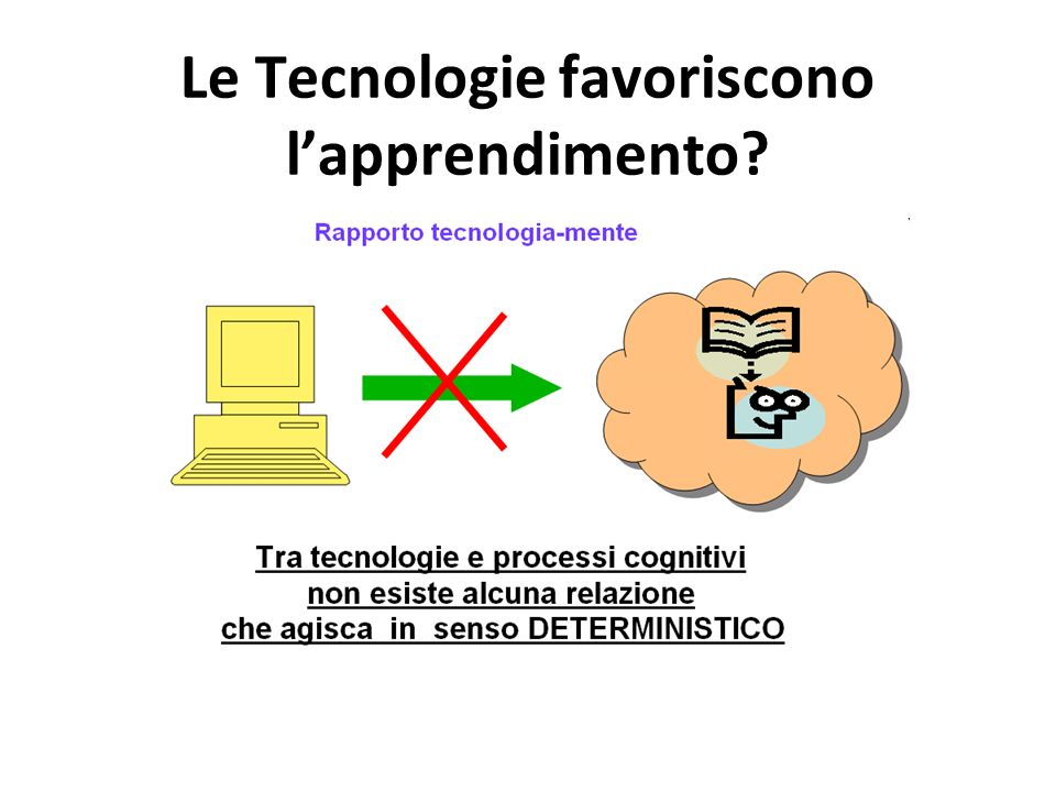 Le Tecnologie favoriscono l'apprendimento
