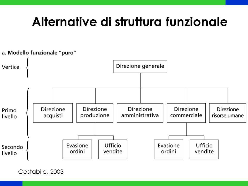 Alternative di struttura funzionale