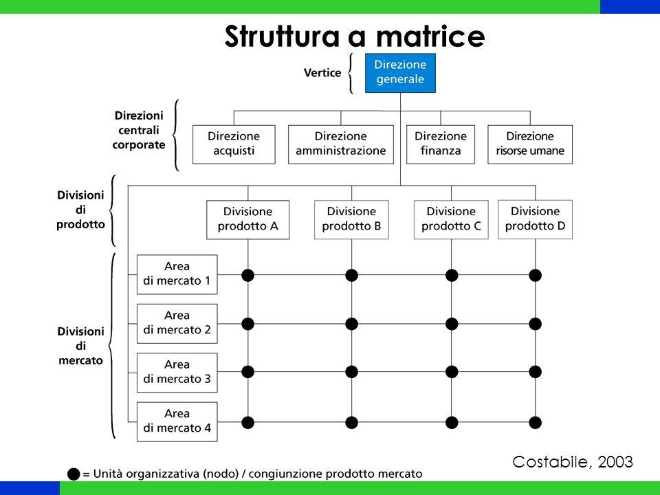 Struttura a matrice Costabile, 2003