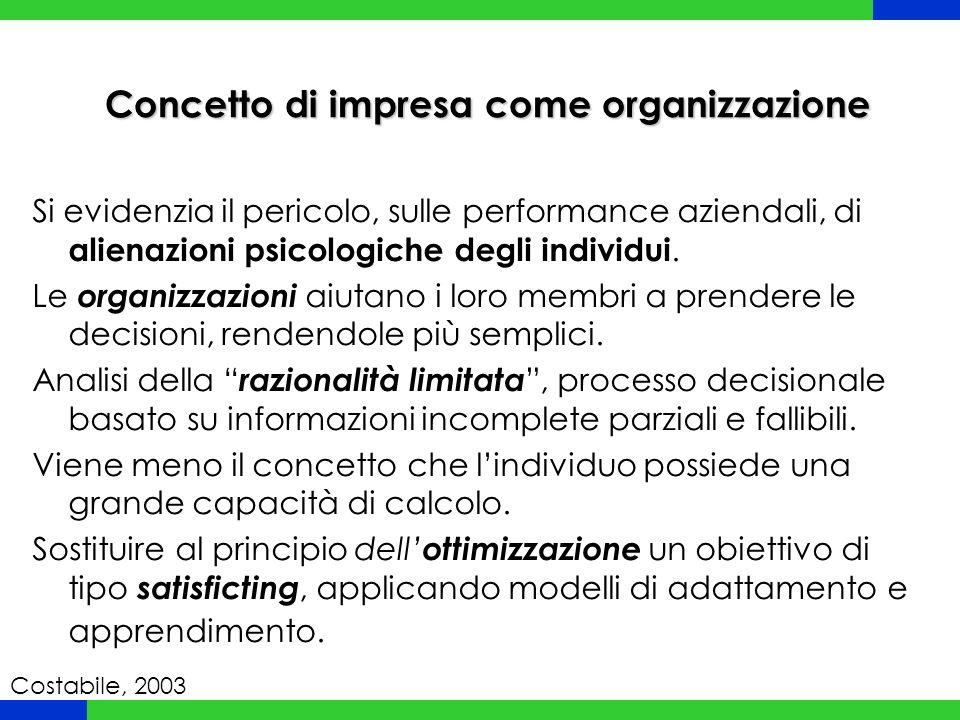 Concetto di impresa come organizzazione