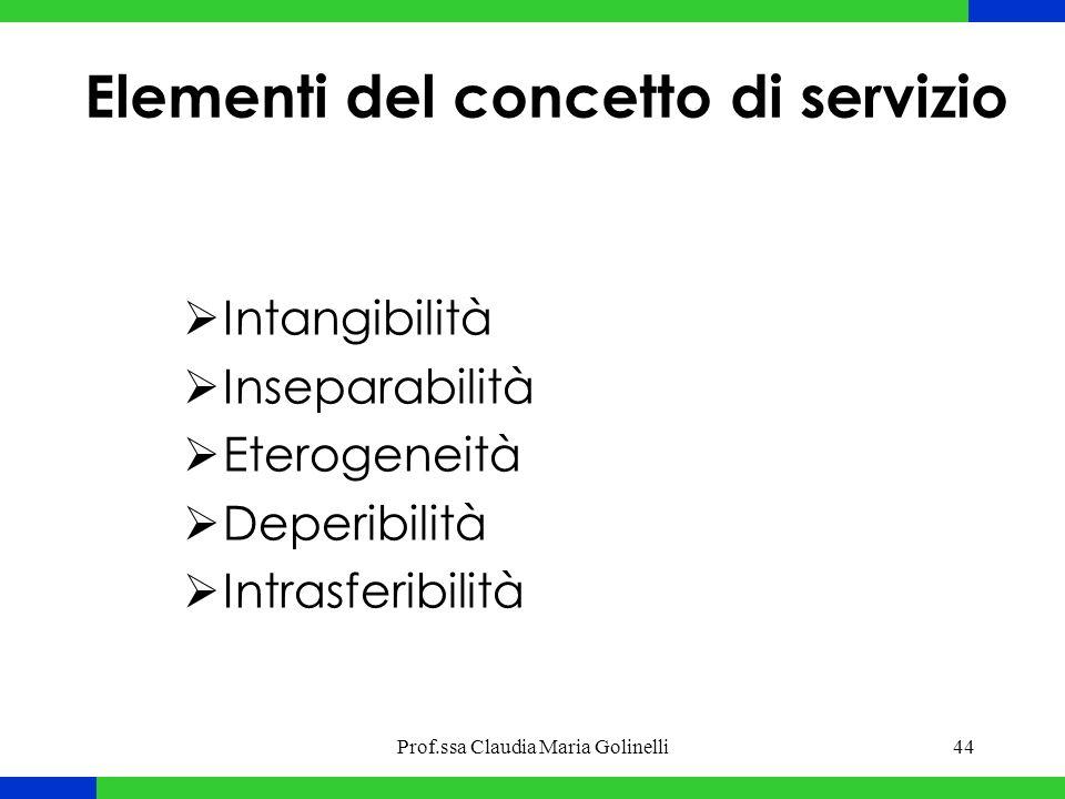 Elementi del concetto di servizio