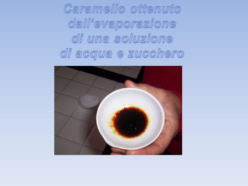 Caramello ottenuto dall'evaporazione