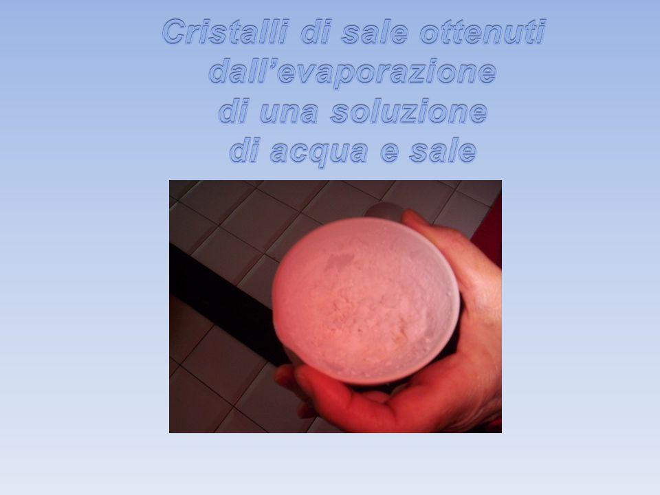 Cristalli di sale ottenuti dall'evaporazione