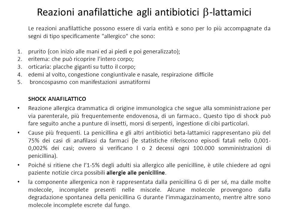 Reazioni anafilattiche agli antibiotici -lattamici