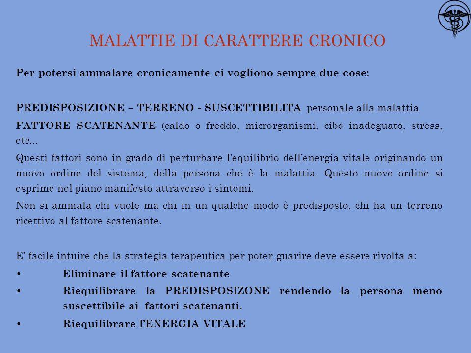 MALATTIE DI CARATTERE CRONICO