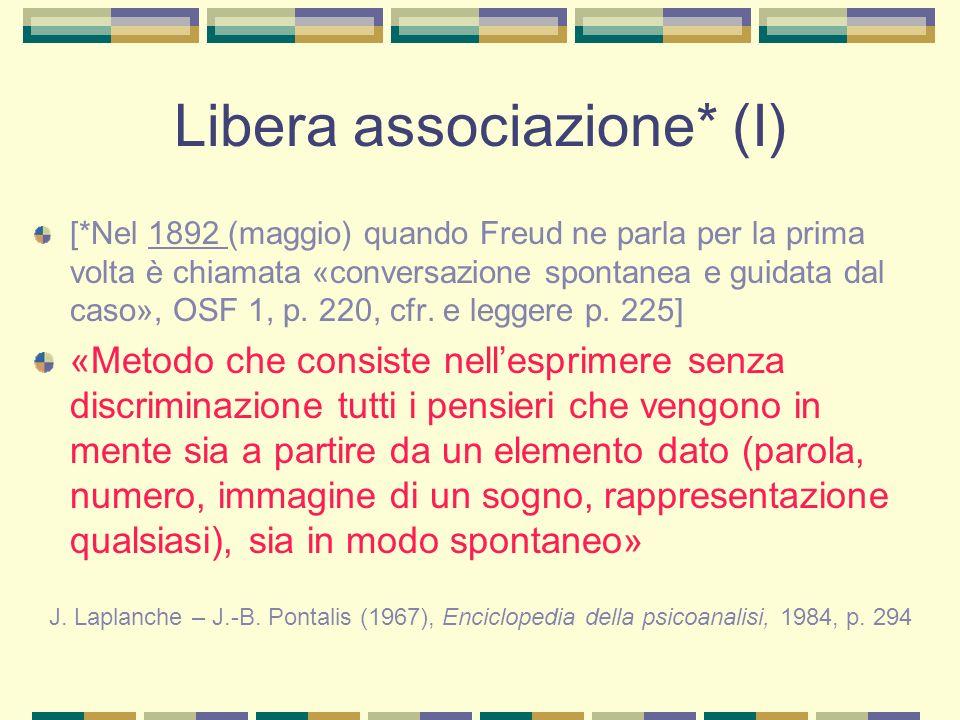 Libera associazione* (I)