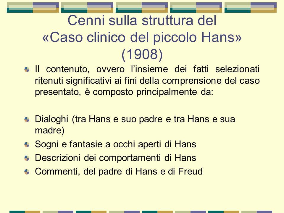 Cenni sulla struttura del «Caso clinico del piccolo Hans» (1908)