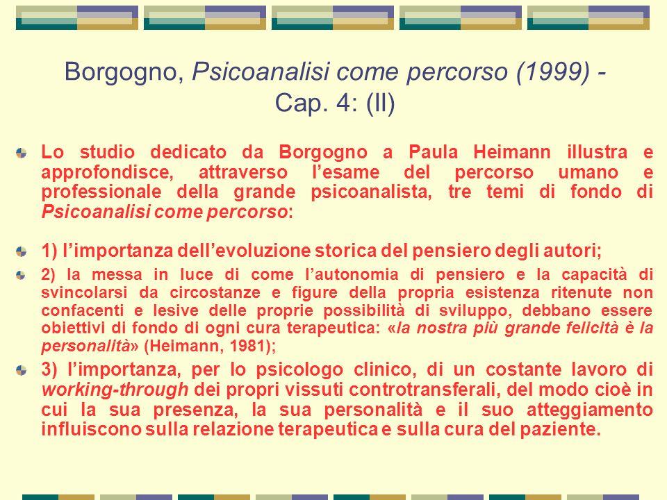 Borgogno, Psicoanalisi come percorso (1999) - Cap. 4: (II)