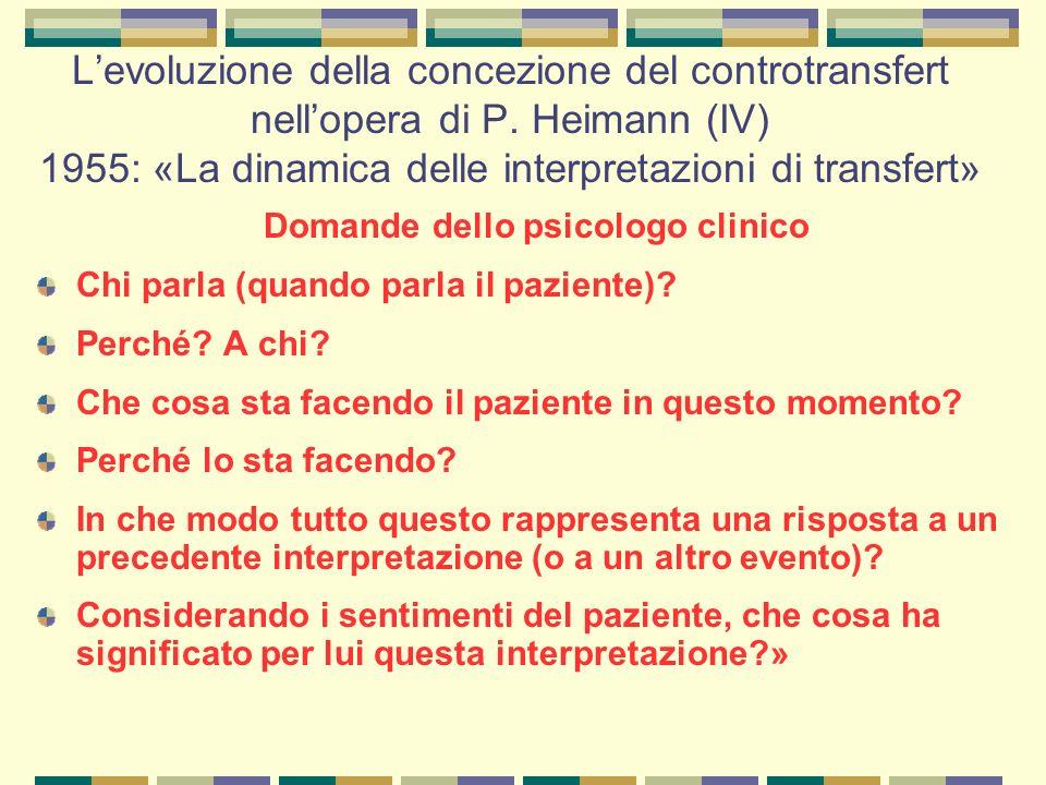 Domande dello psicologo clinico