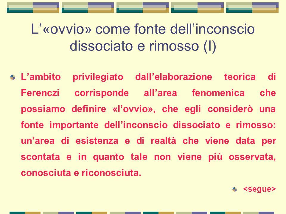 L'«ovvio» come fonte dell'inconscio dissociato e rimosso (I)