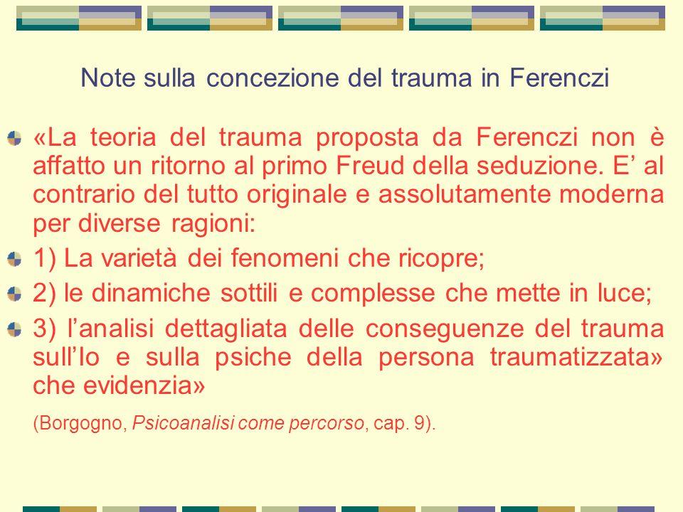 Note sulla concezione del trauma in Ferenczi