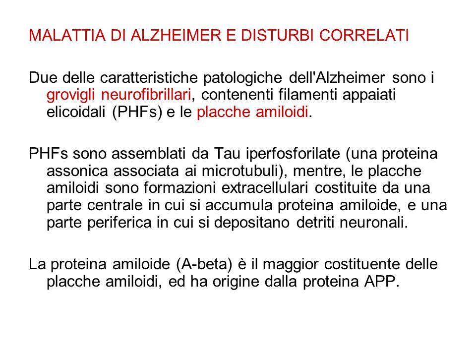 MALATTIA DI ALZHEIMER E DISTURBI CORRELATI