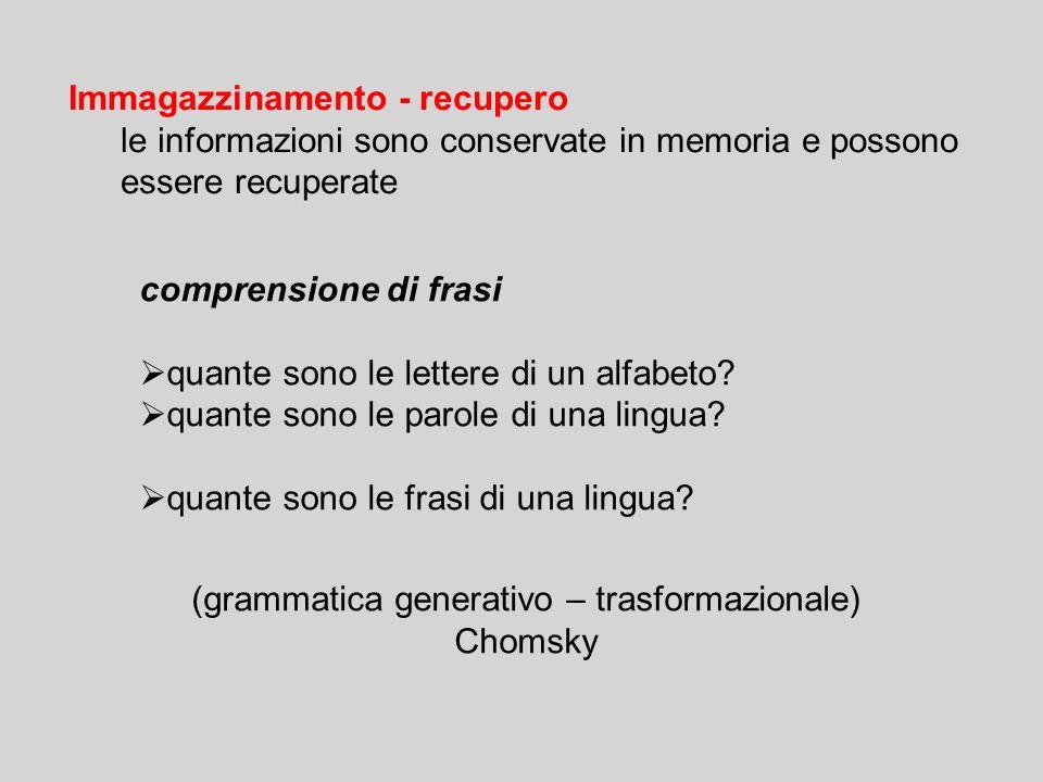 (grammatica generativo – trasformazionale)