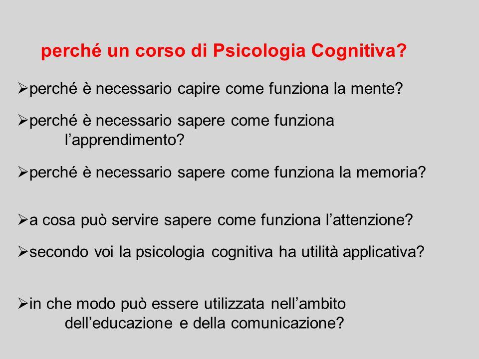 perché un corso di Psicologia Cognitiva