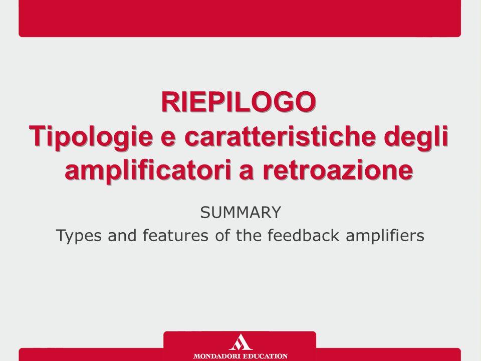 Tipologie e caratteristiche degli amplificatori a retroazione