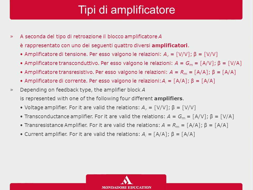 Tipi di amplificatore