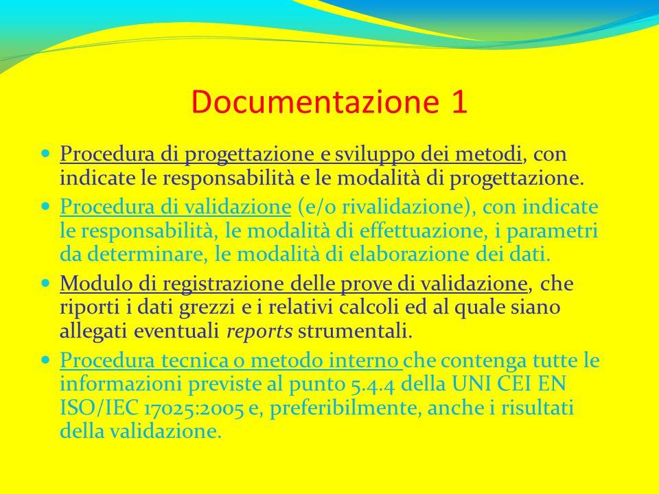 Documentazione 1Procedura di progettazione e sviluppo dei metodi, con indicate le responsabilità e le modalità di progettazione.